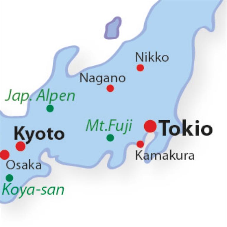 Japan Karte.Nikko Nach Japan Reisen
