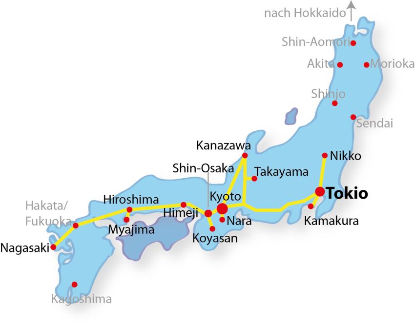 Japan Rundreise in 3 Wochen